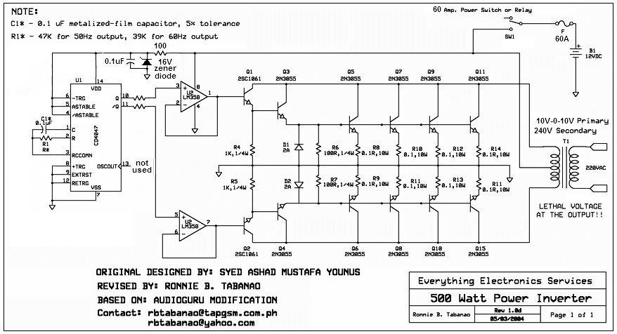 pure sine wave inverter circuit diagram pure aaron s homepage forum on pure sine wave inverter circuit diagram