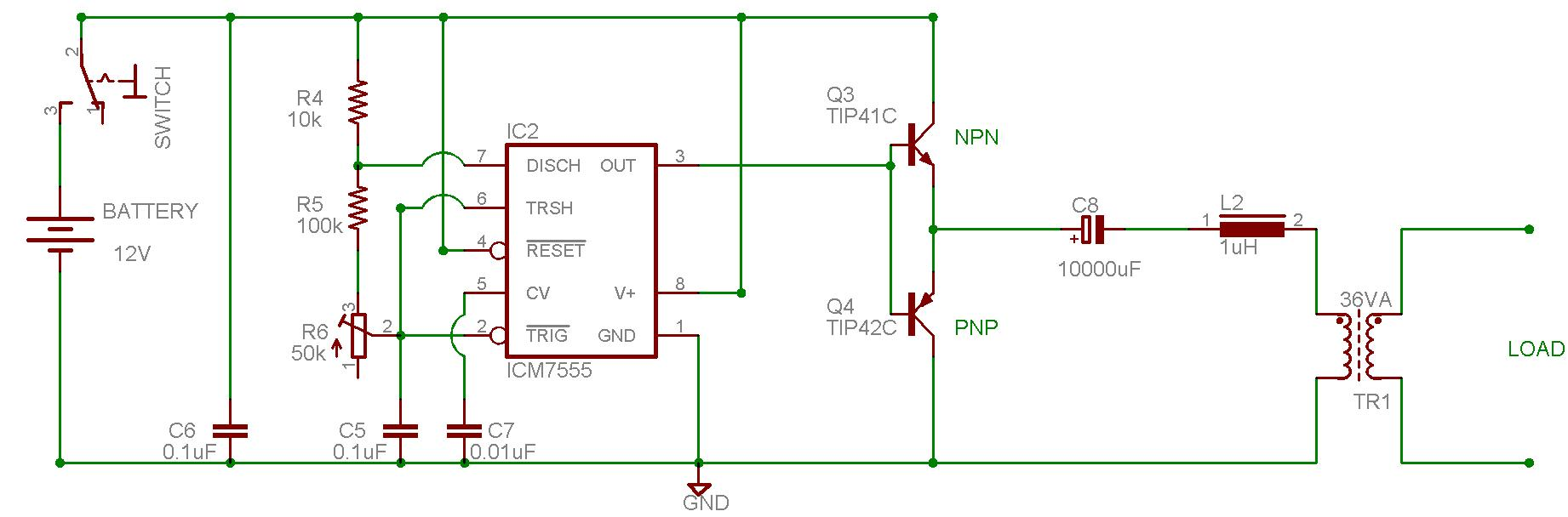 Secret Diagram More Circuit For Inverter Typical Ac Wiring Aarons Homepage Forum Queries On Dc To Using 555 Timer