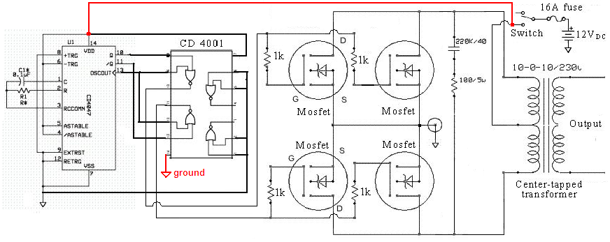 Aarons Homepage Forum Queries On DC To AC Circuit Using 555 Timer
